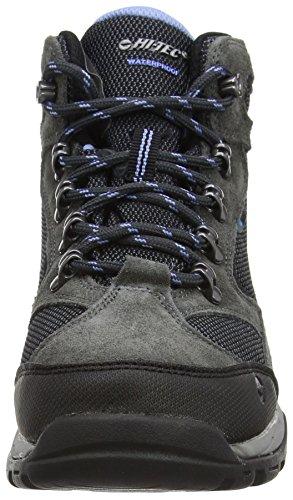 Hi-Tec Storm Waterproof, Damen Trekking- & Wanderstiefel, Grau (Charcoal/graphite/cornflower), 41 EU -