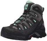 Salomon Damen Quest Prime Gtx Trekking-& Wanderstiefel, Schwarz (Detroit/Asphalt/Lucite Green), 40 EU -