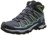 Salomon X Ultra Mid 2 GTX, Damen Trekking- & Wanderstiefel, Blau (Grey Denim/Deep Blue/Lucite Green), 40 2/3 EU (7 Damen UK) -